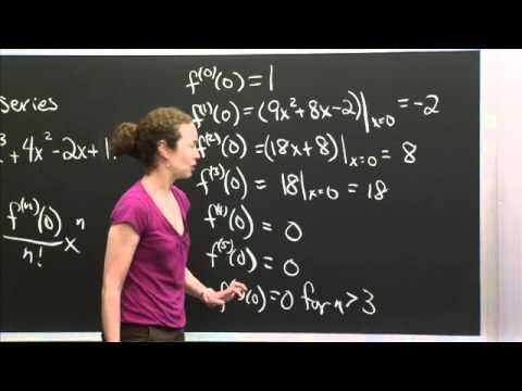 Taylor's Series Of A Polynomial  Mit 18.01sc Single