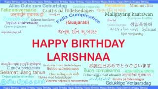 Larishnaa   Languages Idiomas - Happy Birthday