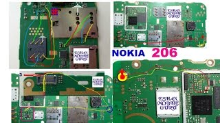 Nokia 206 Charging , Insert Sim , Display Light And Mic Problem How To Fix With Jumper