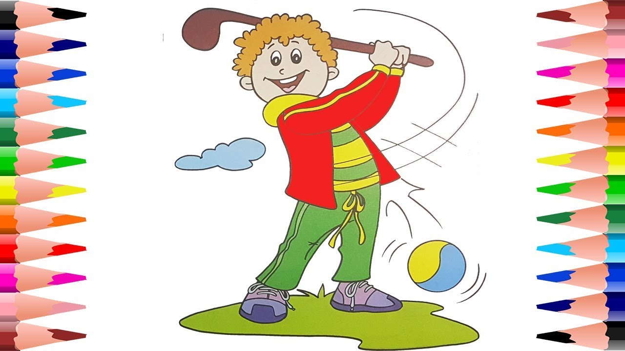 Gallant Golf Coloring Pages | Clubs | Golf Course | Free | Golfers | 720x1280