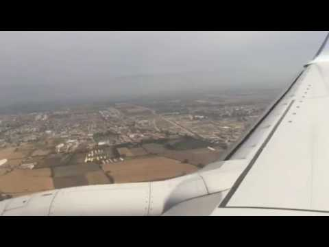 Landing in cloudy Algiers