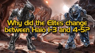Why did the Elite design change between Halo 3 and Halo 4+5?