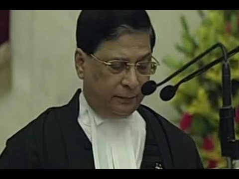 Justice Dipak Misra takes oath as the Chief Justice of India
