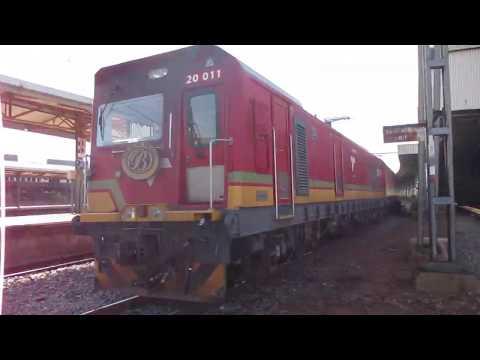 The Blue Train departing Pretoria station.