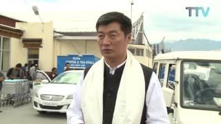 CTA President Dr Lobsang Sangay Arrives in Ladakh