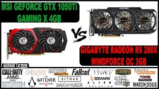 nvidia geforce gtx 1050 ti vs amd radeon r9 280x full hd e 4k desempenho em jogos