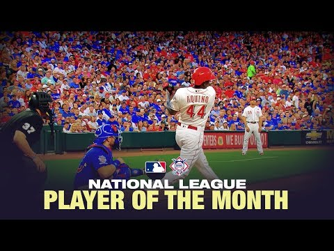 Aristides Aquino WENT OFF to win August's NL Player of the Month