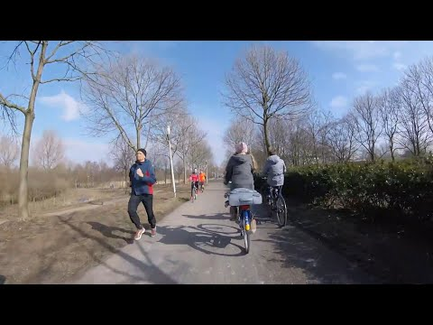 Cycling in Amsterdam. Fietsen in Amsterdam. March 4th 2018