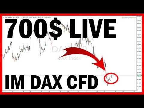 700$ Live im DAX CFD ? Trading mit Strategie ? (Handel für Anfänger Deutsch)