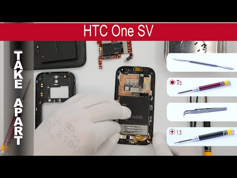 How to disassemble 📱 HTC One SV C520e, Take Apart, Tutorial