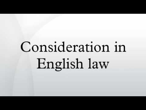 Consideration in English law