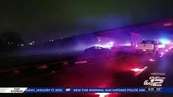 Vehicle crash in median of SB I-37 at US Hwy 181 slows traffic