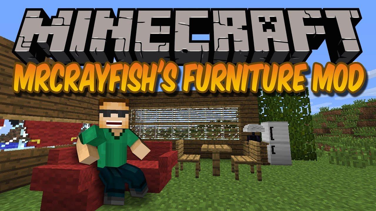 Minecraft Mods Mr Crayfish 39 S Furniture Mod 1 5 2 Youtube