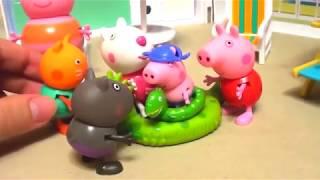 Мультфильм игрушками Свинка Пиги Pig Загораем Отдыхаем