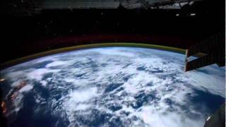 ISS Orbiting Earth