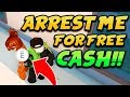 ARREST ME FOR FREE CASH!! (Roblox Jailbreak) ROBLOX TOY GIVEAWAY!! | 🔴 ROBLOX LIVE