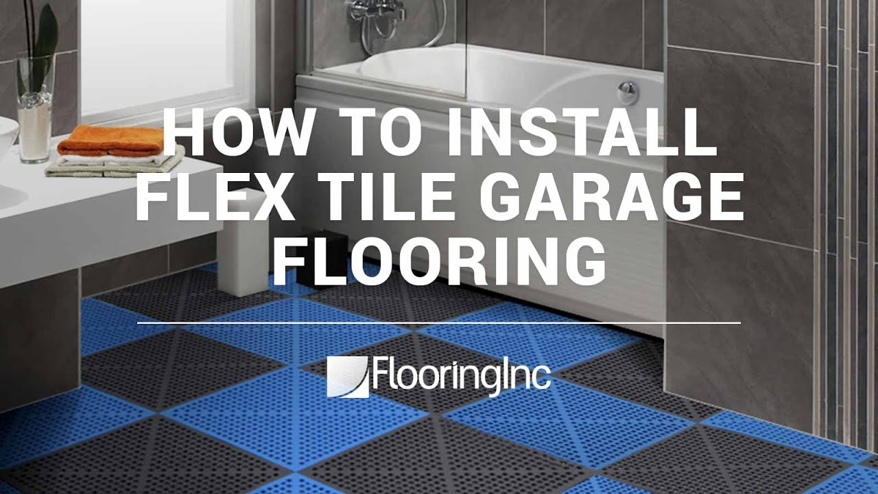 How to install flex tile garage flooring youtube how to install flex tile garage flooring dailygadgetfo Choice Image