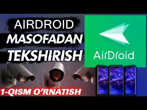 AirDroidni o'rnatish birovni telefonini kuzatish Boshqa telefonga ulanish AirDroid nima