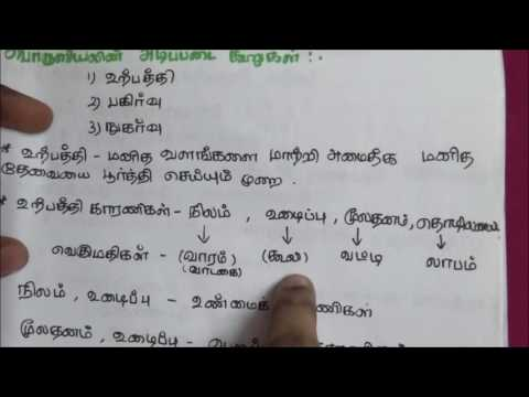 Tnpsc Economics in Tamil - 1