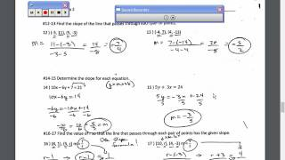 Honors Algebra 2 Chapter 2 Test Review Video