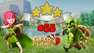 *NEW* MAGIC PRACTICE GOBLIN MAP - 3 STAR WITH ARCHERS - LEVEL 55 CLASH OF CLANS