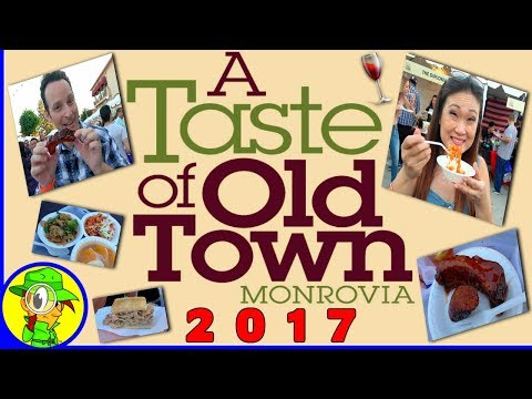 A Taste of Old Town Monrovia 2017 Food Festival! 🍽 📹