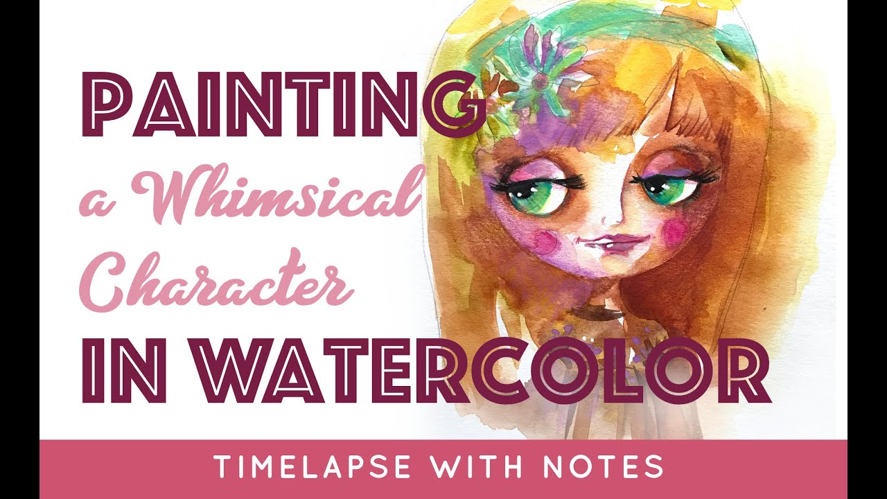 Painting Blythe Whimsical Character Watercolor