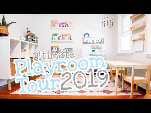 ULTIMATE Playroom Tour 2019 [Sensory Play Organization, Unique Montessori Inspired Toys]