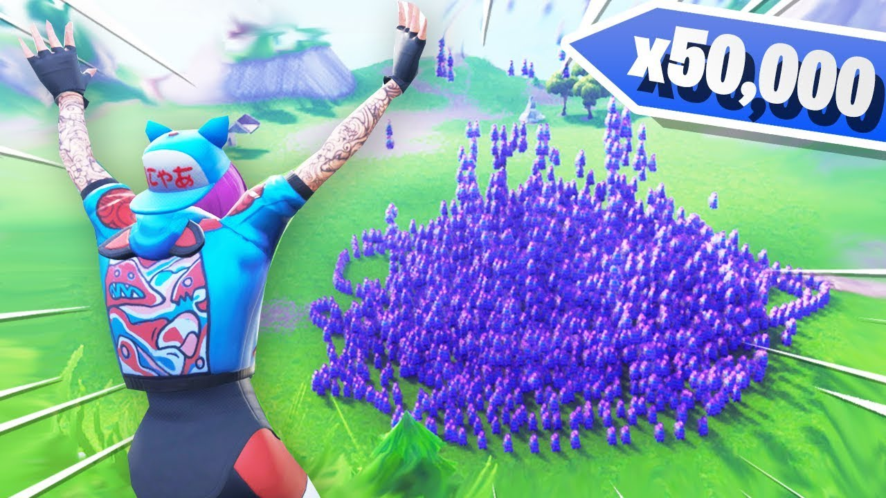 I Spawned 50 000 Llamas In Fortnite Creative Mode Youtube