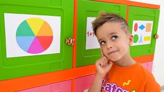 يتعلم فلاد ونيكي كيفية فتح صناديق الألعاب وحل تحدي المنطق