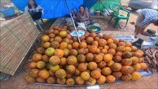 Asian food in thai street food - Laos food in thai laos market