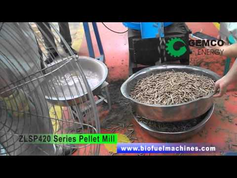 Making Your Own Wood Pellets with GEMCO Biomass Pellet Mill ZLSP-R 420 Series