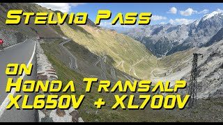 Stelvio Pass on Honda Transalp, September 2016