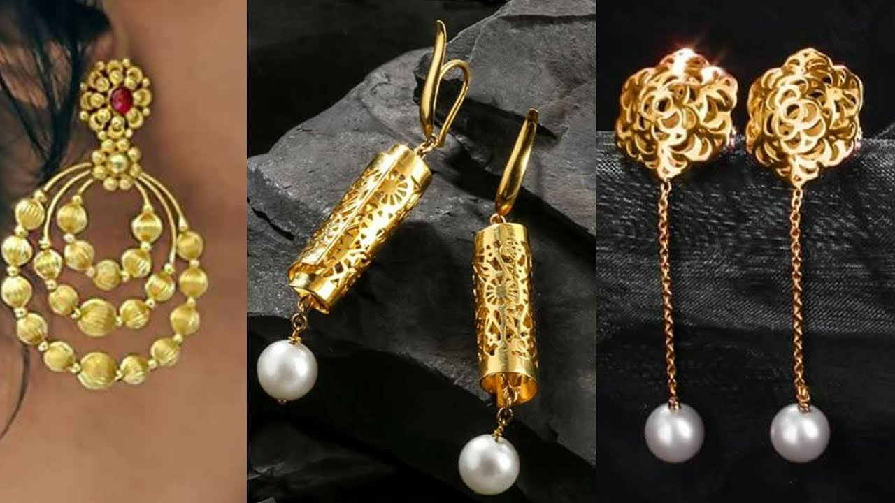 Designer Gold Earrings Designs By Tanishq