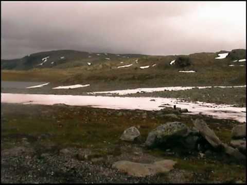 The Way from Aurland to Laerdal in Norway