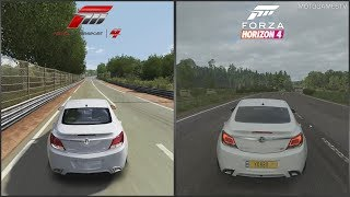 Forza Motorsport 4 vs Forza Horizon 4 - 2010 Vauxhall Insignia VXR Sound Comparison