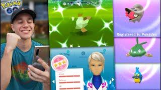 NEW POKÉMON, FULL-ODDS SHINY.. WHAT A LUCKY ADVENTURE! (Pokémon GO)