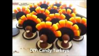 Diy: Candy Turkey Treats! (no Bake)