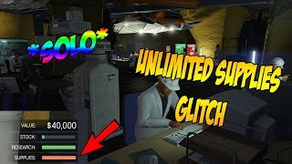 UNLIMITED SUPPLIES GLITCH!!!!!(ROCKSTAR WILL NEVER PATCH THIS GLITCH)*SOLO*