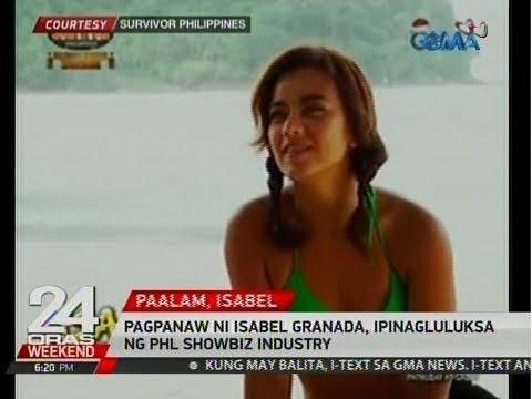 24 Oras: Pagpanaw ni Isabel Granada, ipinagluluksa ng Phl showbiz industry