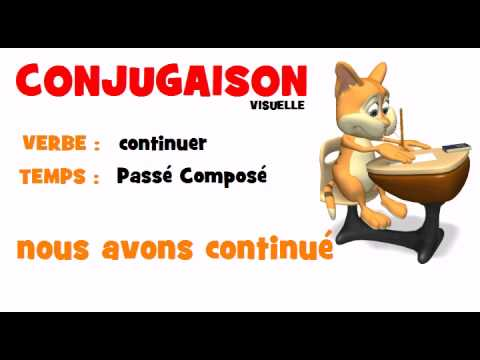 Conjugaison Continuer Passe Compose Youtube