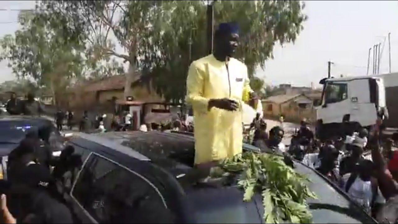 Ousmane  Sonko  accueillie en héros en Casamance avec une grande foule