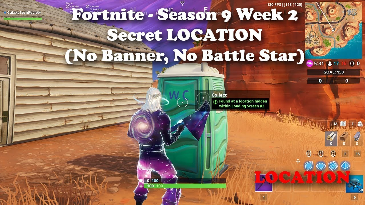 Fortnite Season 9 Week 2 Battle Star Or Banner It S Neither It S A Fortbyte Location Youtube
