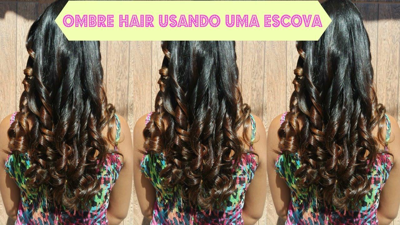 Ombre Hair Feito No Rabo De Cavalo Pintura Nos Cabelos