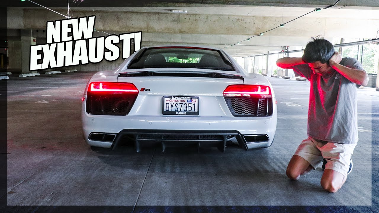 Introducing the LOUDEST V10 Audi R8!