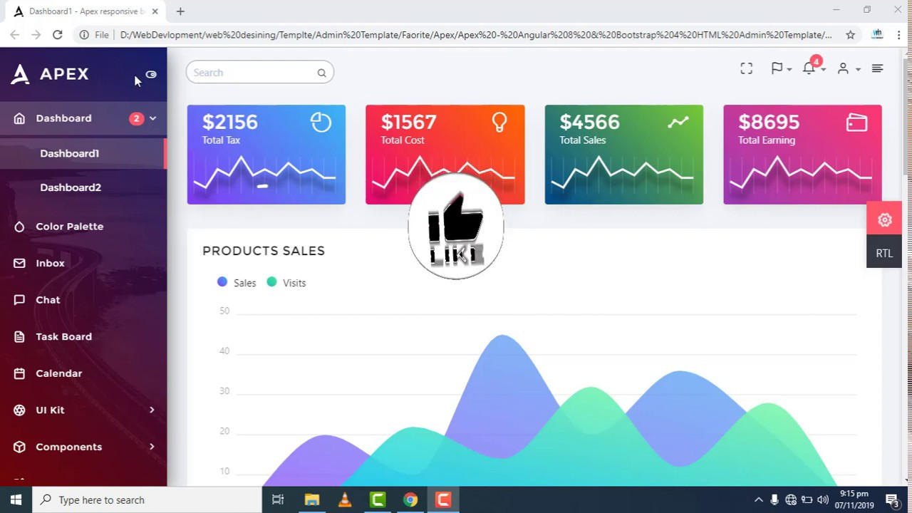 Apex dashboard admin Template