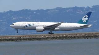 sfo air new zealand anz 8 from auckland 777 200 zk okb