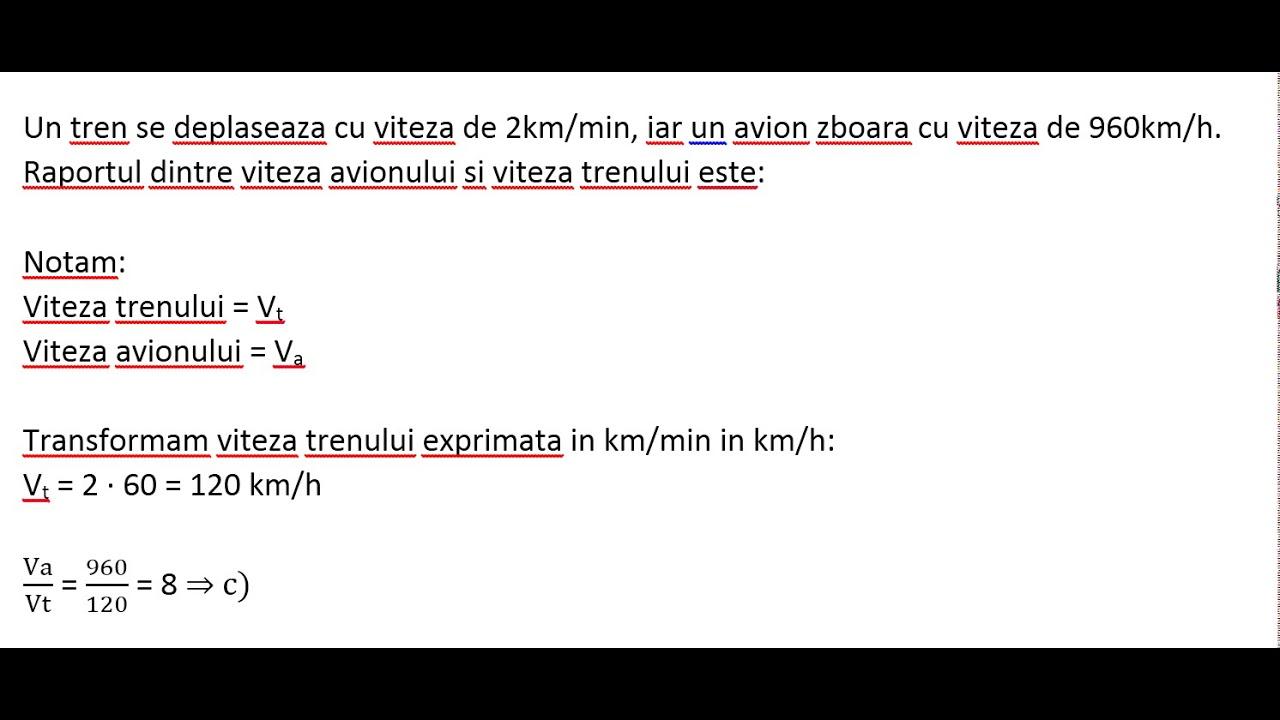 FISA DE LUCRU VITEZA MEDIE