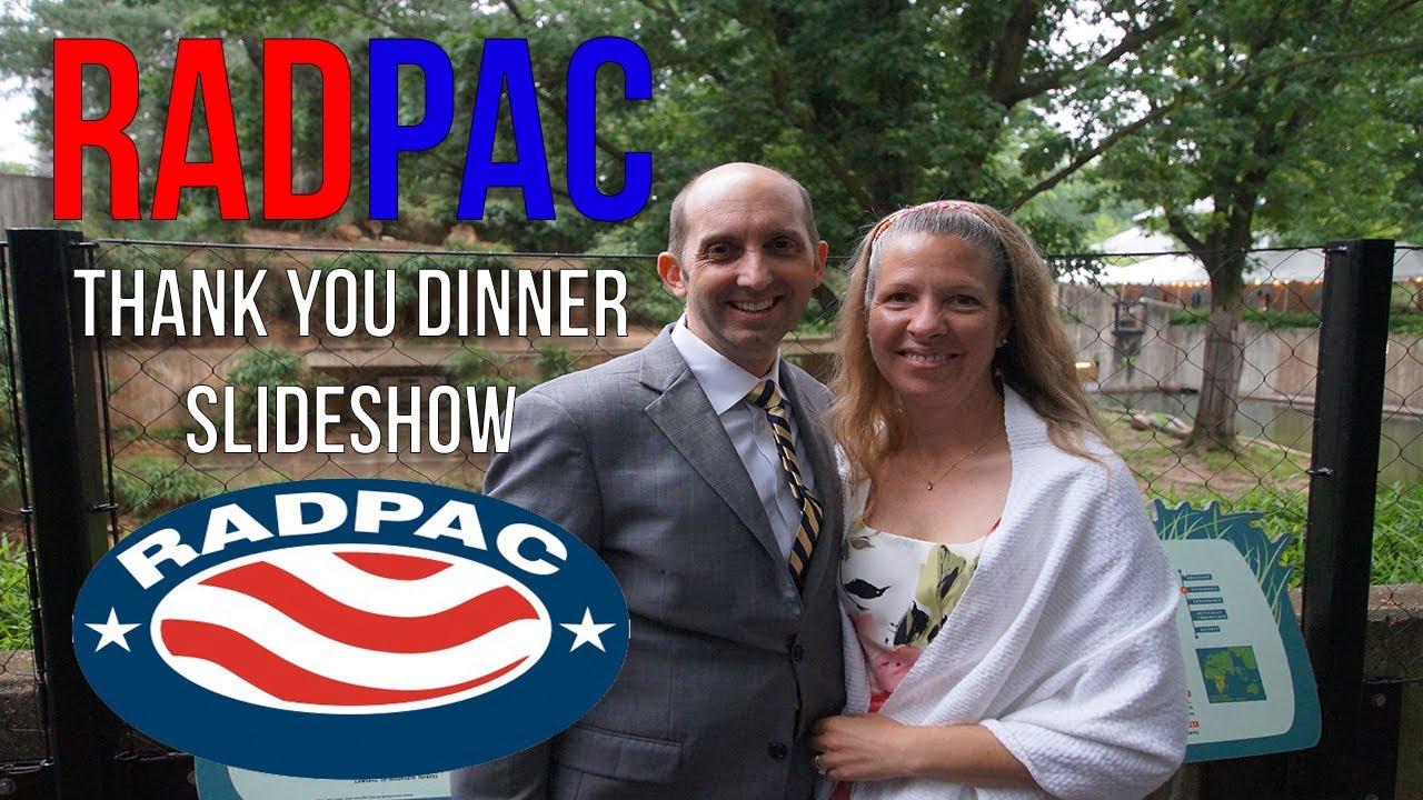 radpac reception slideshow vip dinner youtube