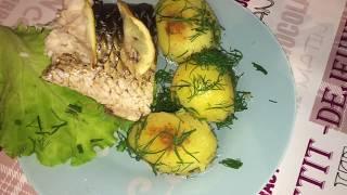 Быстрый #ПП ужин. Рыбка в духовке. Минимум ингредиентов